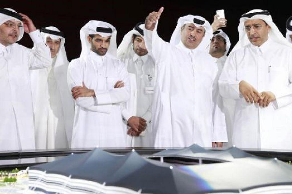 TEKNOLOGI CANGGIH: Para pegawai penganjur Qatar menegaskan teknologi pendinginan akan digunakan di stadium-stadium dan kawasan terbuka apabila ia menganjurkan Piala Dunia 2022. - Foto REUTERS