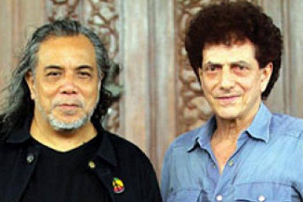 BAKAL BERGANDING: Achmad Albar (kanan) merupakan antara artis undangan yang bakal menyerikan konsert Ramli Sarip (kiri). - Foto HARIAN METRO