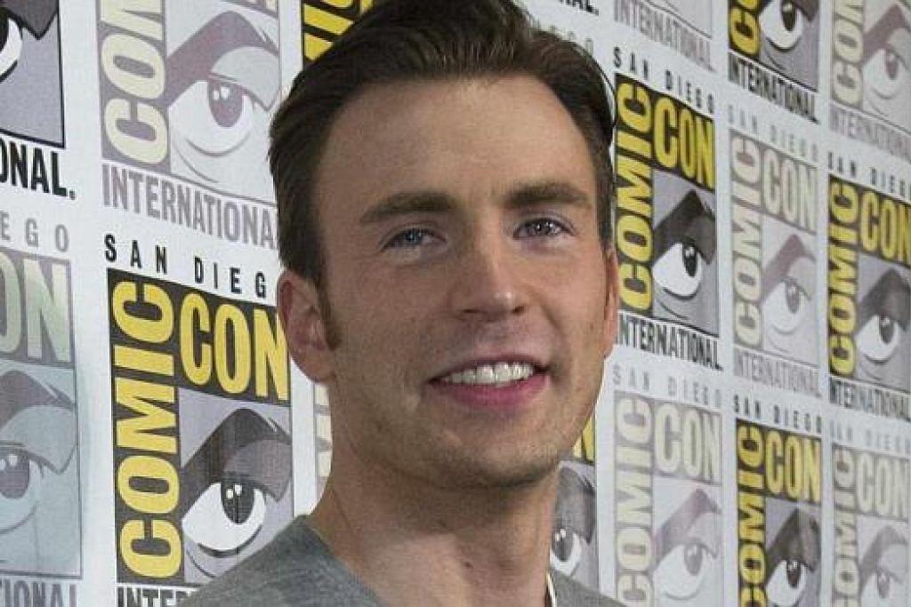 BANYAK BANTU: Filem 'Captain America' banyak membantu Chris Evans (gambar) dalam bidang pengarahan. - Foto MARVEL DAN REUTERS