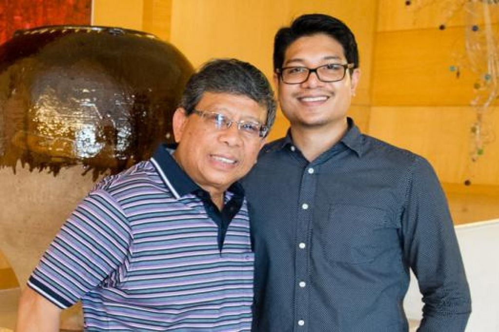 BAPA BOREK, ANAK RINTIK: Encik Amal Marican ingin mengikuti jejak bapa, Encik Salleh, dalam dunia keusahawanan. - Foto ihsan AMAL MARICAN