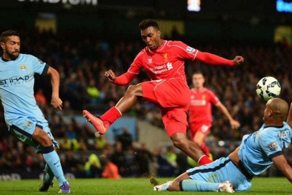 PENYERANG AZIMAT: Tanpa Daniel Sturridge (tengah), Liverpool tumpul di depan gol dan kini jatuh ke separuh bawah liga. - Foto AFP