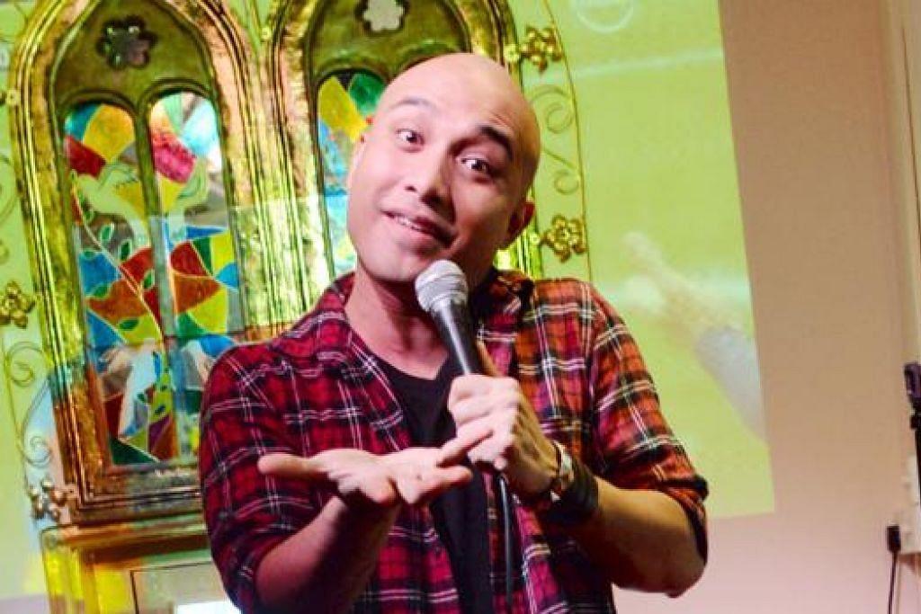 PELUANG KEEMASAN: Pelawak pentas, Muhammad Fadzri Abd Rashid, atau dikenali sebagai Fakkah Fuzz, kini mengacarakan rancangan '50 Ways To Be A Singaporean' dan bakal membuat persembahan dalam 'Kings & Queen of Comedy Asia V'. - Foto MOHD KHALID BABA