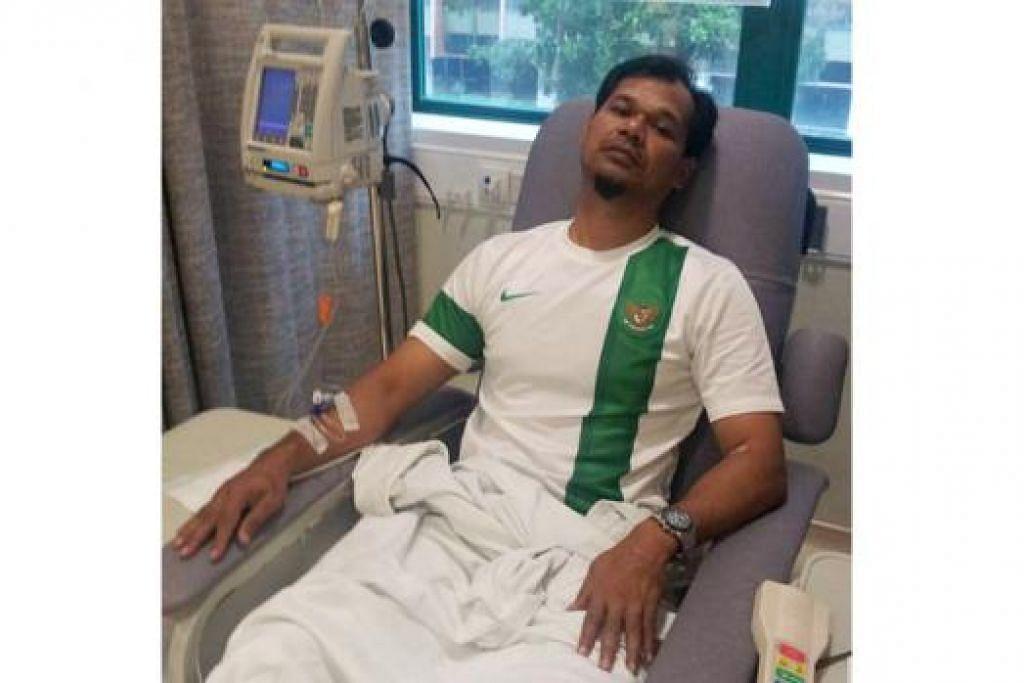 JALANI RAWATAN: Amin Nasir berada di wad hospital semasa kali pertama disakan menghidap barah pada awal tahun lalu.