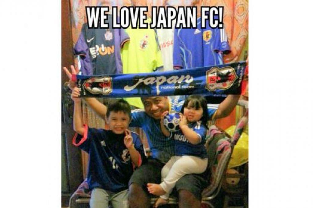PENYOKONG SETIA: Shaharuddie Abdullah meminati Jepun sejak melihat aksi mereka di Piala Dunia 1998. - Foto ihsan SHAHARUDDIE ABDULLAH