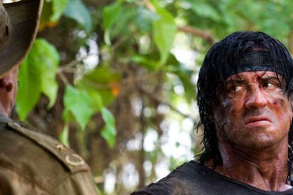 FILEM KELIMA?: Terdapat berita bahawa Sylvester Stallone bakal mengarah dan berlakon dalam filem Rambo kelima. - Foto UIP