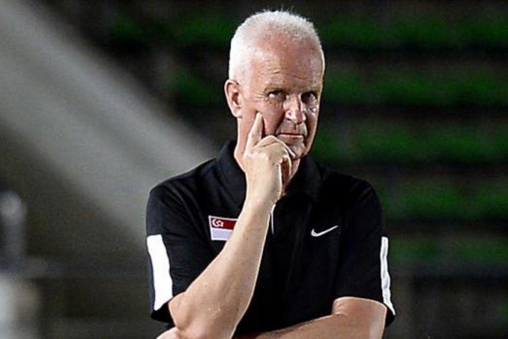 STANGE: Enggan mengeluh kerana tidak dapat berlatih di Stadium Negara sebagai persiapan hadapi Piala Suzuki. - Foto fail