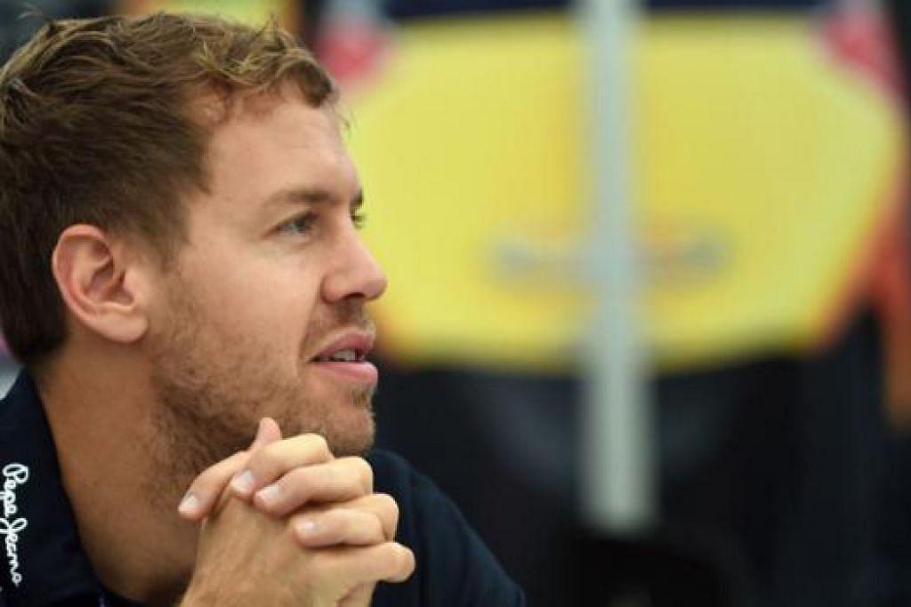 TUKAR ANGIN: Sebastian Vettel berkata beliau meninggalan Red Bull kerana ingin melakukan perkara baru dalam kerjayanya. - Foto AFP