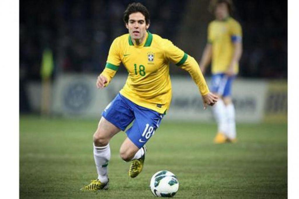 MASIH LIGAT: Bintang veteran Brazil, Kaka, masih mendapat kepercayaan jurulatih baru pasukan itu. - Foto FIFA