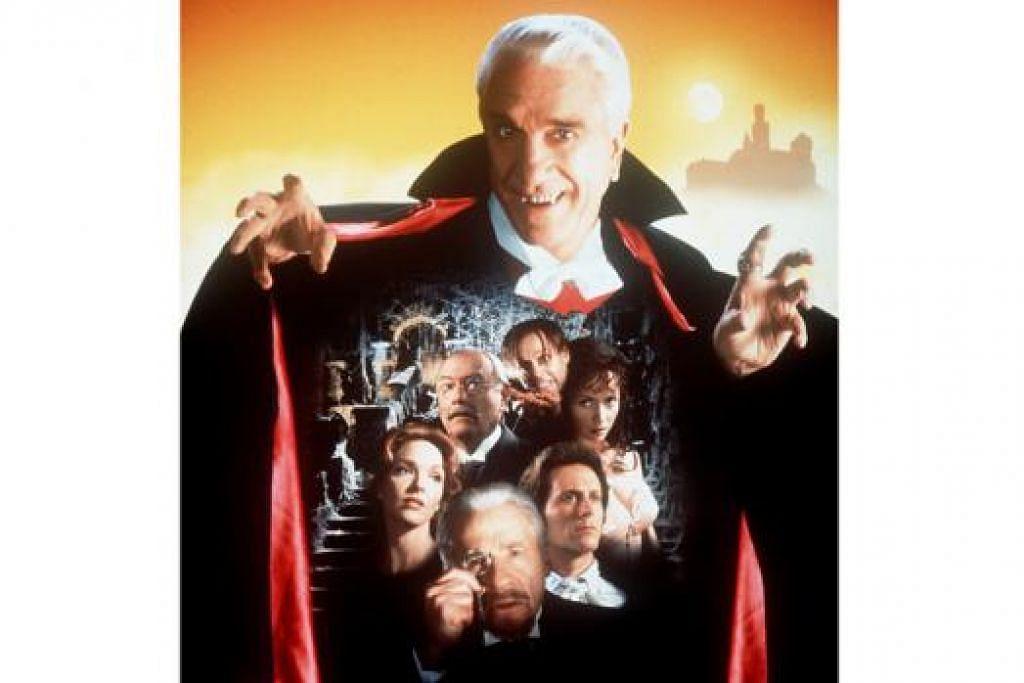 DRACULA VERSI TERBARU: Luke Evans begitu memukau dalam lakonannya sebagai Dracula dalam filem 'Dracula Untold'. Memang sebelum ini terdapat banyak filem tentang Dracula yang memaparkan watak Dracula yang berbeza-beza, seperti Dracula zaman silam lakonan Christopher Lee, Dracula kelakar rabak lakonan Leslie Nielsen (atas) dan Dracula seram punya lakonan Gary Oldman.- Foto-foto fail