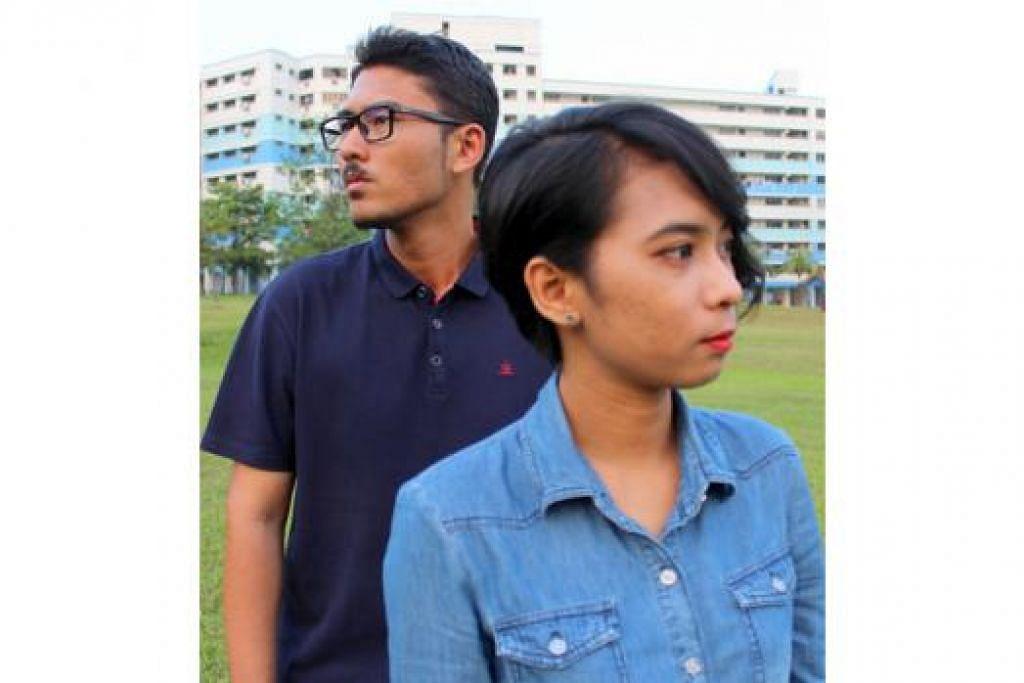 BERPANDANGAN JAUH: Encik Zahir dan Cik Nurul Arini berharap dapat menyemarakkan lagi minat buat puisi tempatan dengan adanya laman Buana Puitika. - Foto BUANA PUITIKA