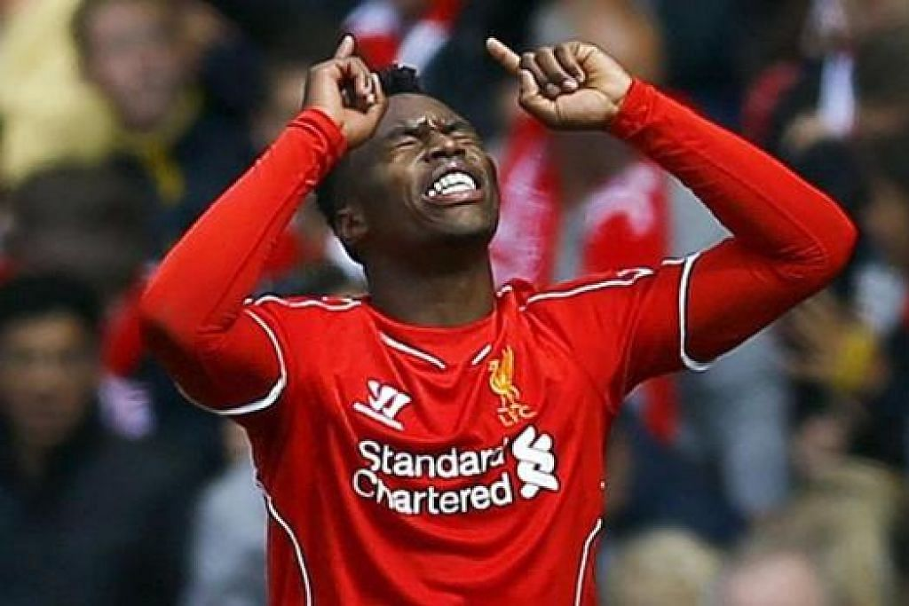 BURU GOL: Tiga penyerang Liverpool, (atas) Daniel Sturridge, Mario Balotelli dan Raheem Sterling perlu menjaringkan gol demi membantu Liverpool mendaki liga dan mengembalikan keyakinan penyokong dalam keupayaan mereka. - Reuters