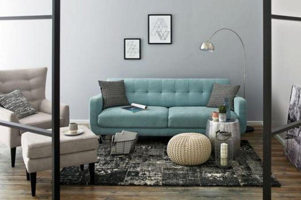 NAFAS KONTEMPORARI: Berikan sentuhan 'Urban' kepada ruang tamu anda dengan set sofa ini.