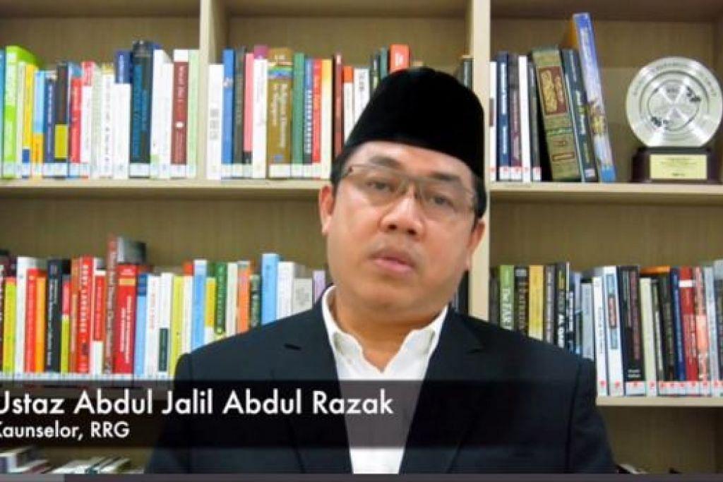 WADAH MEDIA SOSIAL: Video kedua terbitan RRG yang disampaikan oleh Kaunselor RRG, Ustaz Abdul Jalil Abdul Razak, antara lain menegaskan bahawa Islam mengharamkan apa jua bentuk kezaliman yang dilakukan atas nama Islam. - Foto YOUTUBE