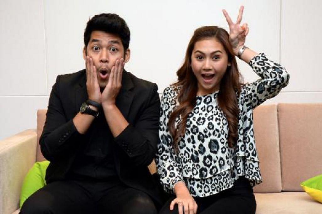 BERSAMA DALAM 'MISI TAWAN BABY': Kamal Adli suka kacau orang sama ada di dalam atau di luar filem, manakala Erin Malek pula gemar berlakon dalam filem komedi. - Foto JOHARI RAHMAT