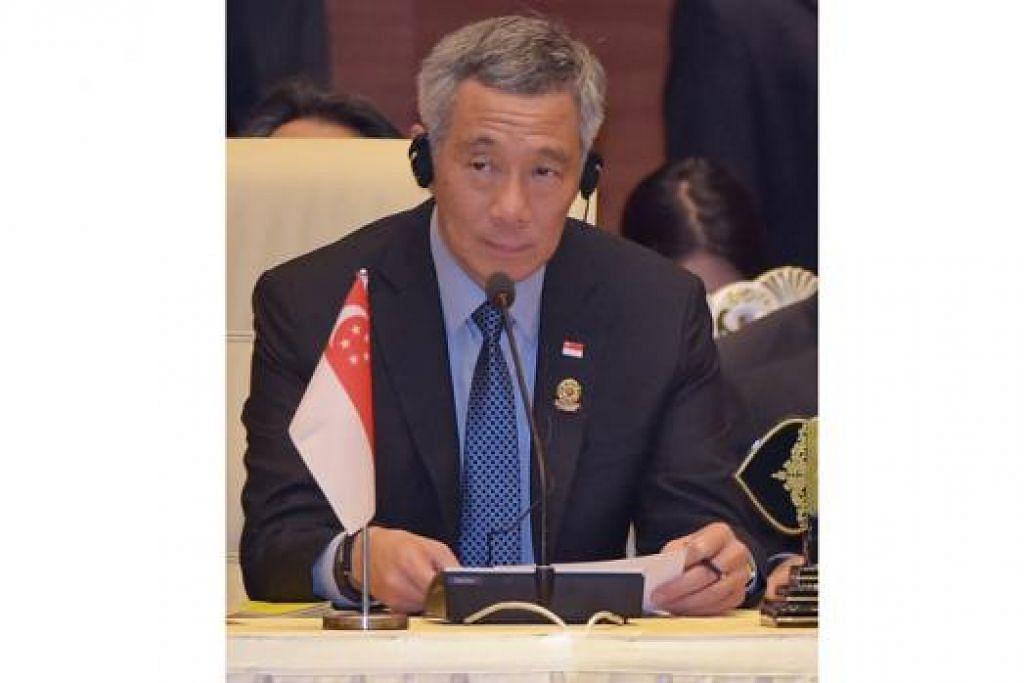 PM LEE: Adalah baik bagi Asean tampil bersama-sama dan membuat kenyataan tentang pendiriannya menentang pengganasan. - Foto AFP