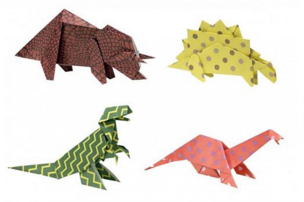 PELAJARI SESUATU YANG BARU: Anda mungkin pernah dengar, baca dan menonton filem atau dokumentari mengenai dinosaur. Sekarang, apa kata anda belajar satu kemahiran baru iaitu melipat kertas origami dalam bentuk dinosaur. - Foto WWW.ALEXTOYS.COM