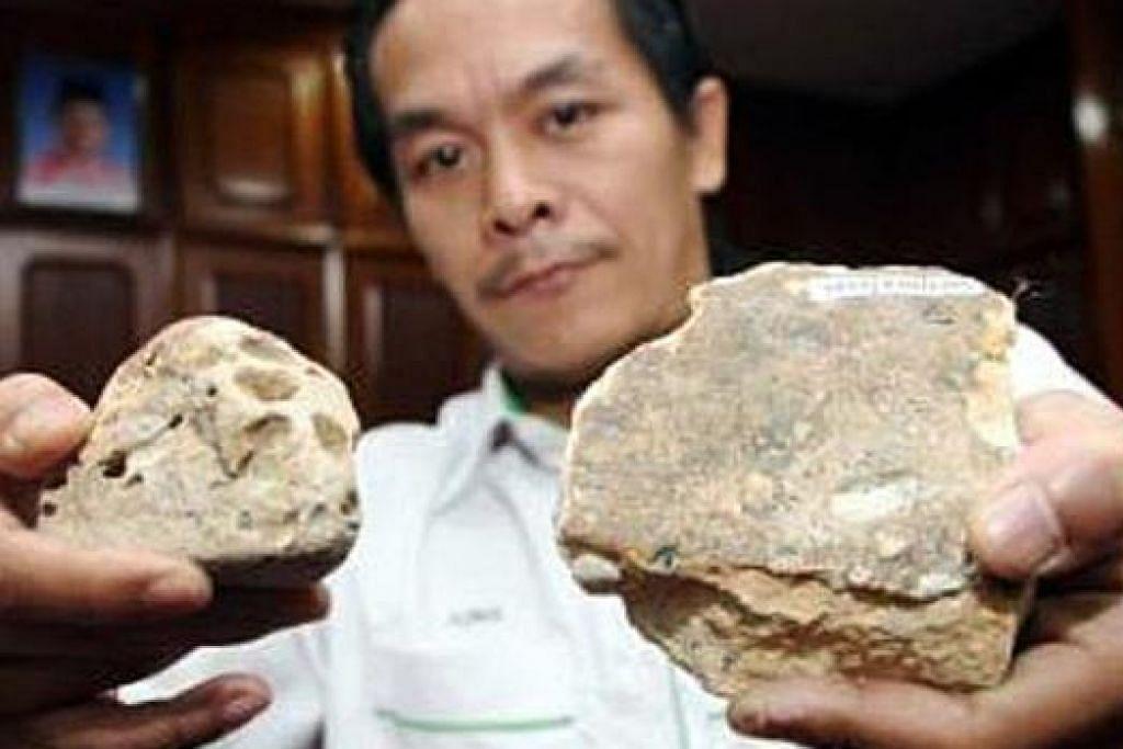 PENEMUAN TERBARU: Para saintis dan ahli geologi menemui apa yang dipercayai fosil daripada tiga keluarga dinosaur yang mungkin hidup di kawasan Hulu Terengganu 66 juta tahun yang lalu. - Foto THE STAR