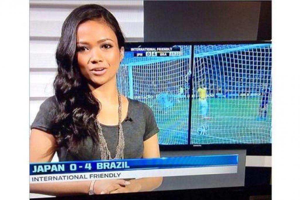 PELAKON DAN PENGACARA: Nadiah M. Din kini juga penyampai berita dalam bahasa Melayu bagi saluran Fox Channel. - Foto-foto ihsan NADIAH M. DIN