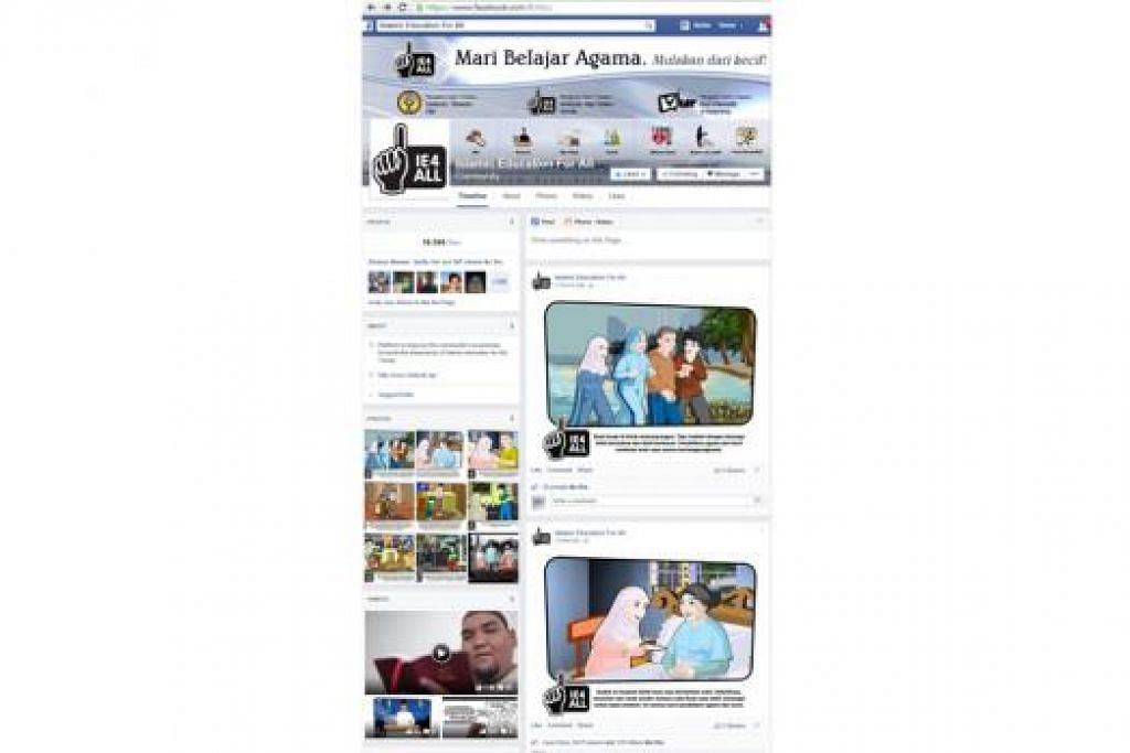 MEDIA SOSIAL: Usaha mempertingkat kesedaran tentang kepentingan pembelajaran agama turut diperluas menerusi ruang media sosial seperti laman Facebook IE4ALL. - Foto FACEBOOK