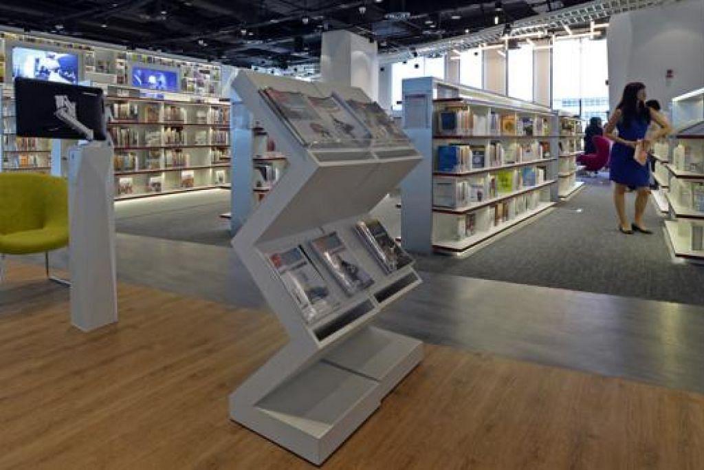 KEMUDAHAN BARU: Perpustakaan di Institut Pembelajaran Sepanjang Hayat menawarkan bahan khusus untuk golongan mahu pertingkat diri. - Foto THE STRAITS TIMES