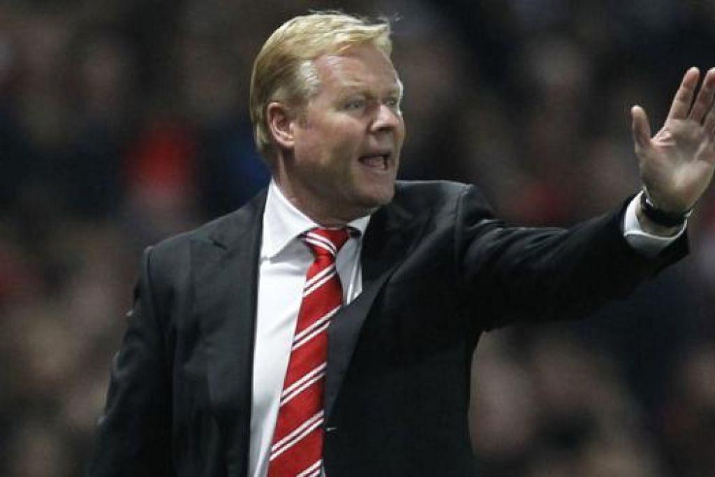 RONALD KOEMAN: Akur pasukannya perlu bermain lebih baik apabila bertemu City. - Foto AFP