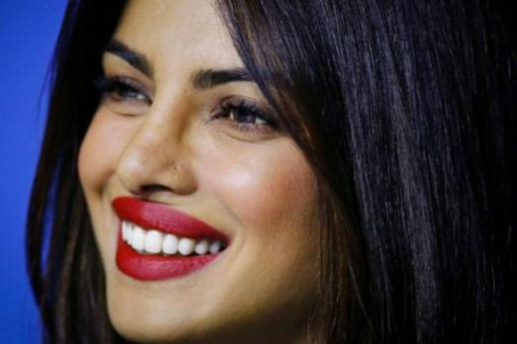 JADI PENERBIT PULA: Selepas berlakon dan menyanyi, kini Priyanka Chopra menceburi bidang penerbitan dalam usaha mengetengahkan bakat-bakat baru. - Foto REUTERS
