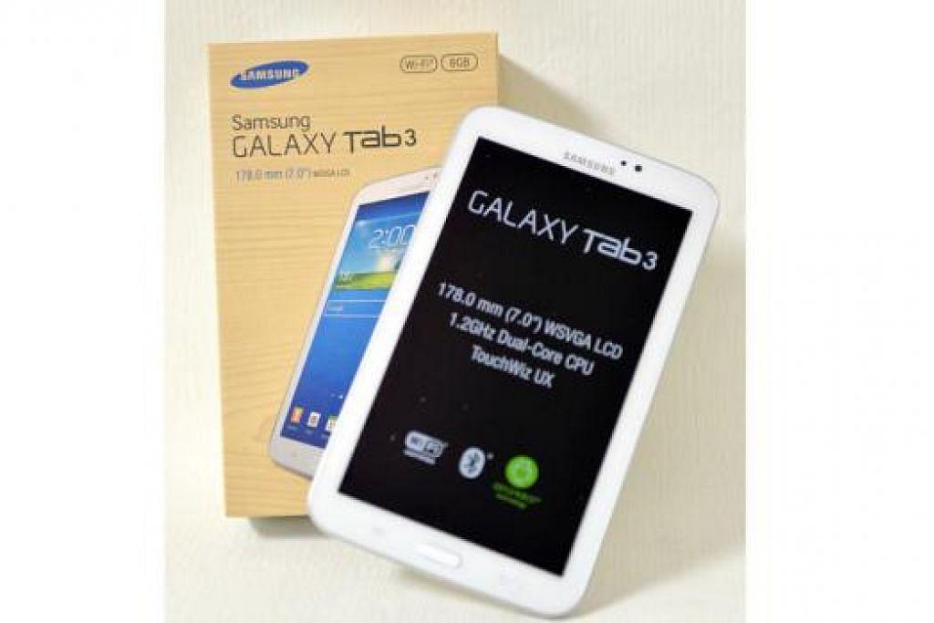 MENANGI GAJET INI: Anda berpeluang mendapat sebuah Samsung Galaxy Tab 3 apabila anda melanggan Berita Harian.