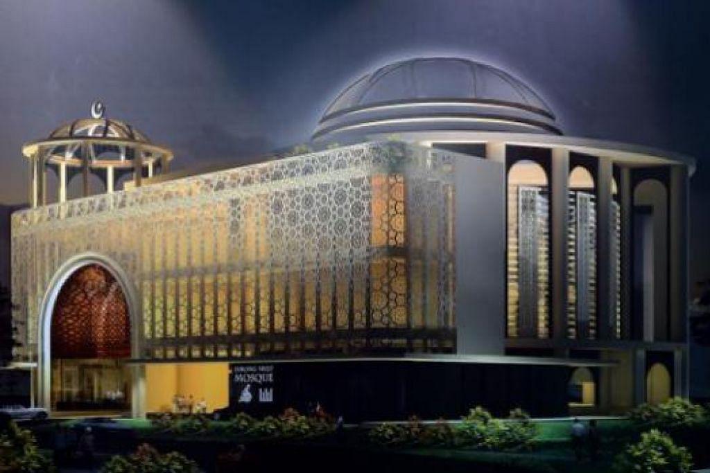 WAJAH MASJID BARU: Inilah gambaran Masjid Maarof yang bakal dibina di simpang Jurong West Avenue 2 dan Jalan Boon Lay.