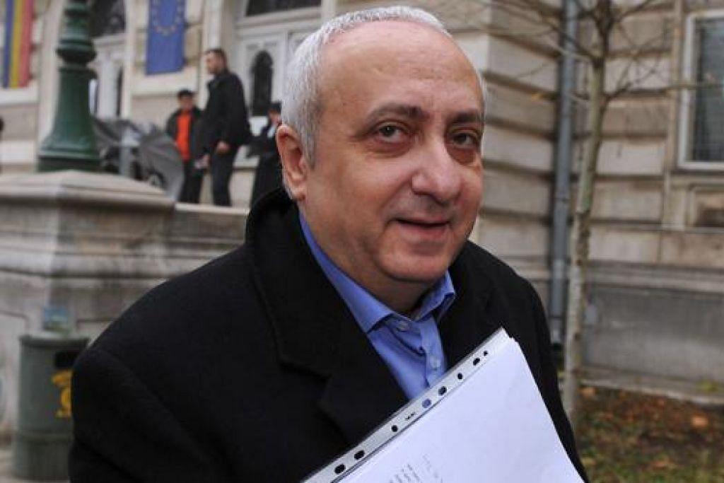 MENDIANG SILVIU IONESCU: Dijatuhi hukuman penjara enam tahun pada Februari lalu oleh sebuah mahkamah rayuan Bucharest. - Foto AFP