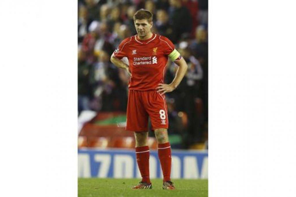 MAHU MENGULANGI KEJAYAAN: Steven Gerrard, kapten Liverpool, berharap dapat menembusi gawang Manchester United buat kali ke-10 dalam kerjayanya malam ini. - Foto REUTER