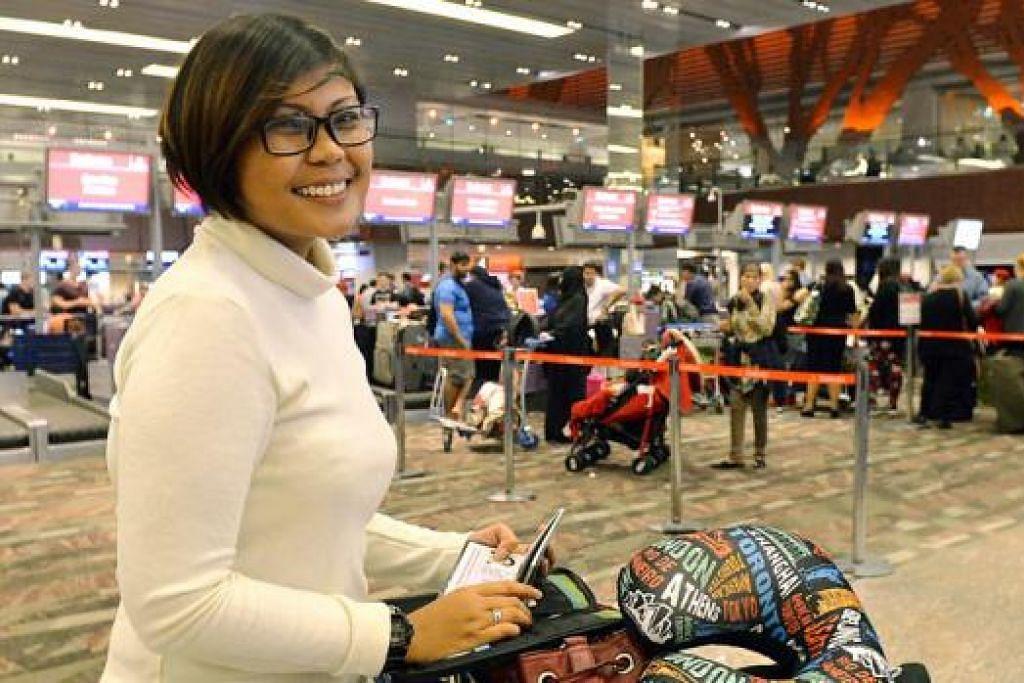 TERUSKAN BERCUTI DI EROPAH: Meskipun tidak melancong ke Australia, Cik Norlela Malati berkata beliau berasa agak bimbang, namun akan tetap berfikiran positif dan lebih berwaspada semasa di luar negara. - Foto KHALID BABA