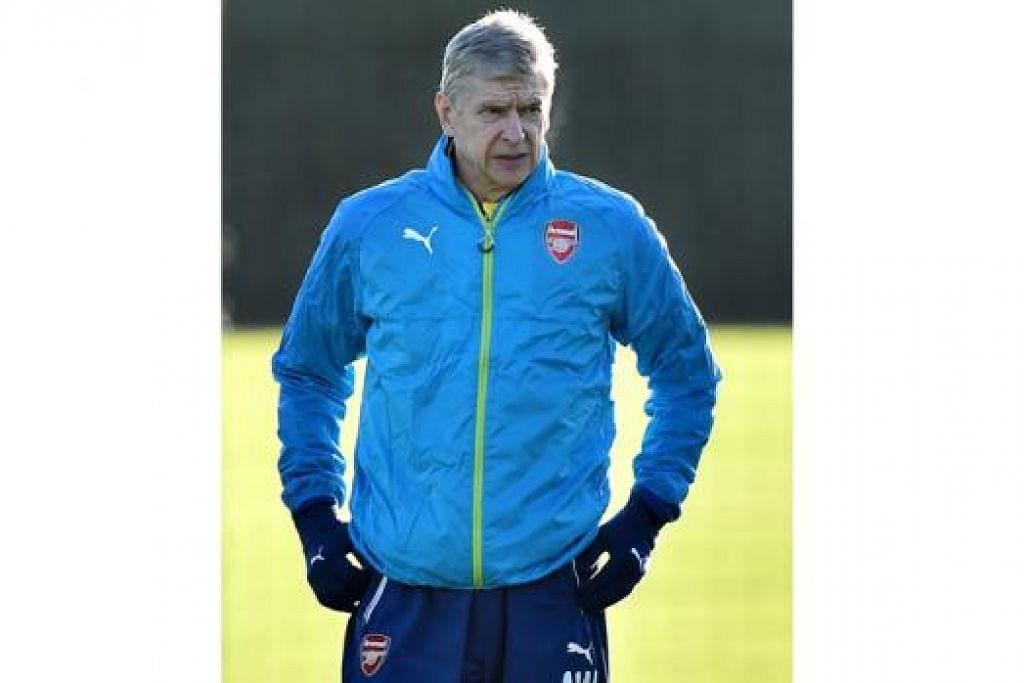 ARSENE WENGER: Jika pasukan pimpinannya, Arsenal, menang ia boleh melompat ke kedudukan Liga Juara-Juara Eropah. – Foto AFP