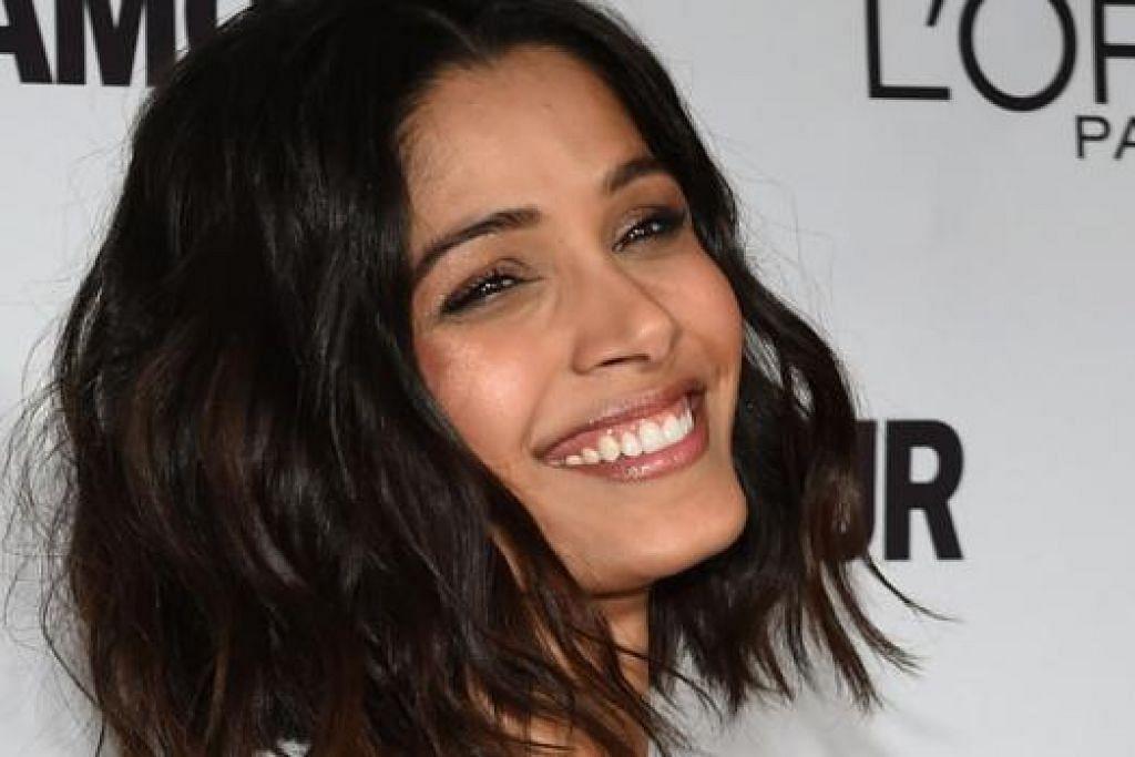 CARI PELUANG: Freida Pinto lahirkan hasrat ingin cuba berlakon di Bollywood dan berharap dapat bekerjasama dengan pengarah wanita India. - Foto AFP
