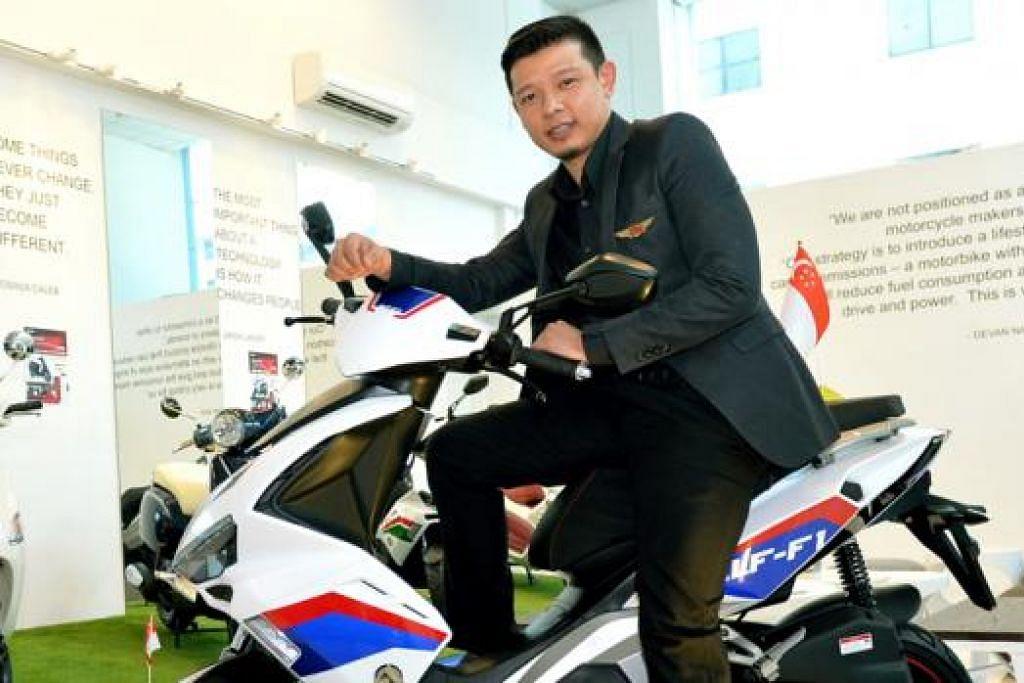 GHAIRAH DENGAN POTENSI: Hady Mirza teruja terlibat dalam projek pemasaran skuter mesra alam, yang bakal dilancarkan tahun depan. - Foto KHALID BABA