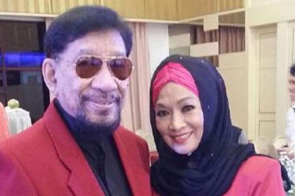 SUDAH JODOH: Datuk A. Rahman Hassan (kiri) gembira dipertemukan dengan Fadilah Mansor, pelakon yang bakal dinikahinya esok di Pusat Dagangan Dunia Putra, Kuala Lumpur. - Foto BHM