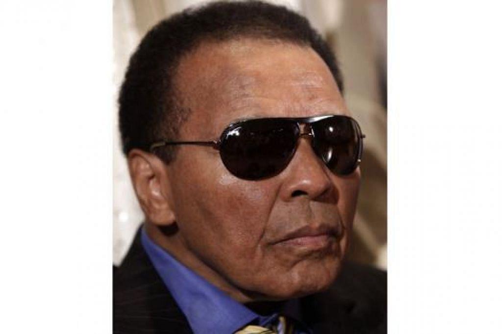 SEMAKIN BAIK: Muhammad Ali dijangka pulang tidak lama lagi. - Foto AFP