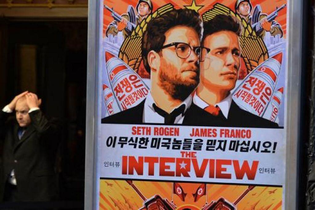 JADI DITAYANGKAN: Sony Pictures akan tayangkan filem The Interview selepas asalnya membatalkan edaran filem itu. - Foto AFP