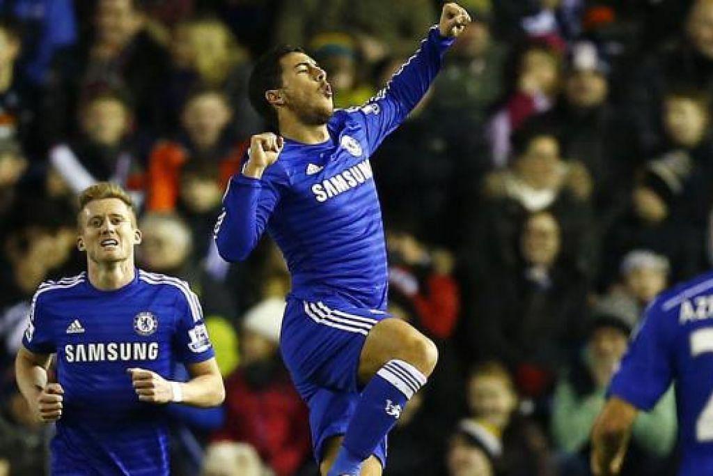 PENGAKHIR MIMPI: Chelsea boleh mengakhirkan mimpi indah West Ham dalam pertemuan di Stamford Bridge esok.- Foto REUTERS