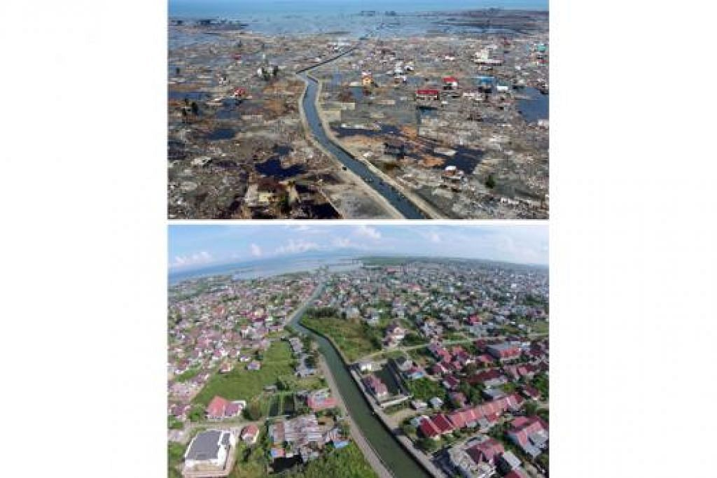 BANDA ACEH: Ibu kota Aceh 10 tahun dahulu dan kini selepas lebih AS$7 bilion diagihkan dunia untuk pemulihannya namun pengamat berkata rasuah dan silap tadbir telah menjejas potensinya. - Foto AFP