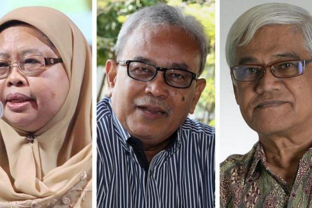 (Dari Kiri) Profesor Madya Dr Hadijah Rahmat, Encik Mohd Naim Daipi Dan Encik Mohamed Latiff Mohamed