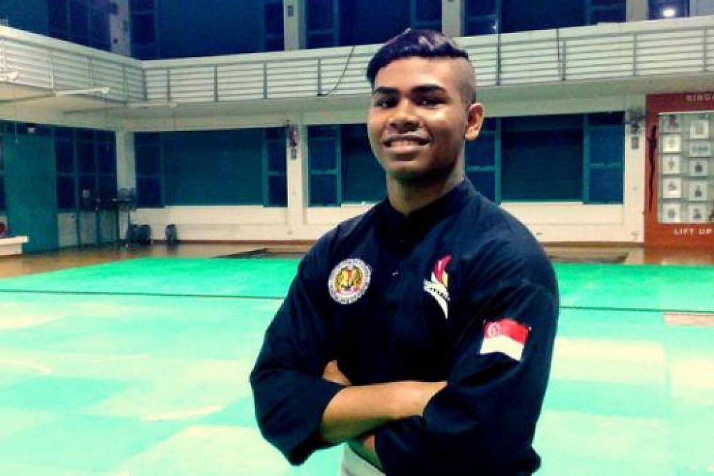 IMPIAN MURNI: Farhan berharap dapat mengukir namanya dalam sejarah sukan Singapura dan dikenali sebagai atlit berkebolehan dan bukan sebagai anak Sheik Alau'ddin semata-mata. – Foto NORMAN SAWI
