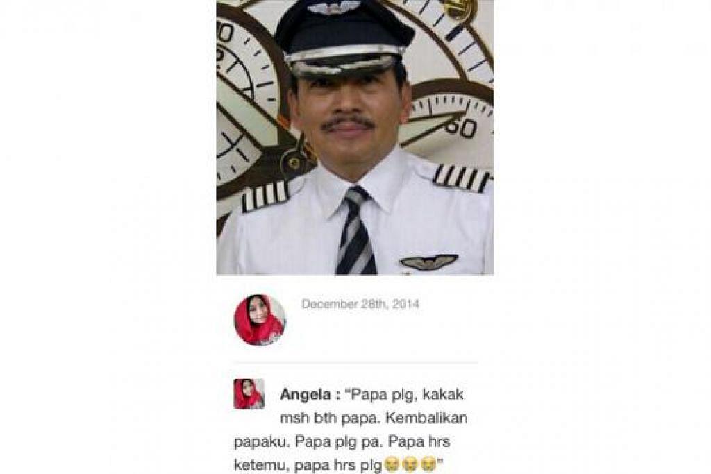 MINTA PULANG: Luahan hati anak perempuan Kapten Iriyanti, Cik Angela Anggi Ranastianis, 22 tahun, yang meminta supaya bapanya dapat pulang dengan selamat. - Foto NEWS.LIPUTAN6.COM