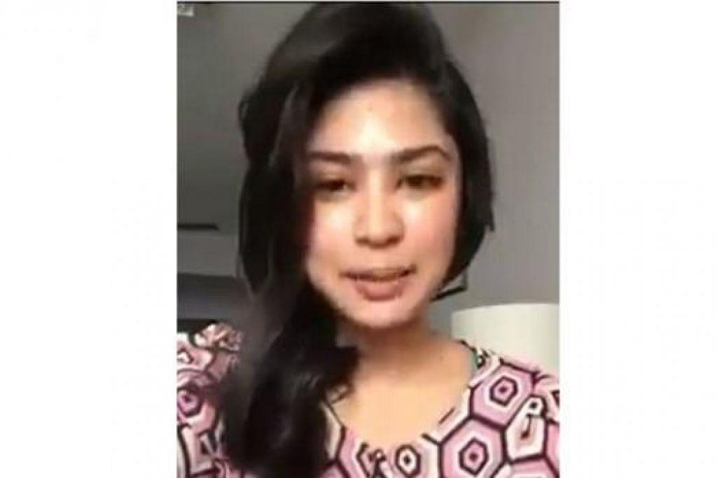 BUKAN INA YANG SEBENAR: Seorang wanita yang mendakwa dirinya 'Ina' (atas) telah membuat video pengakuan bahawa beliau hanya peminat Nur JM Mohd. - Foto-foto FACEBOOK dan JOHARI RAHMAT