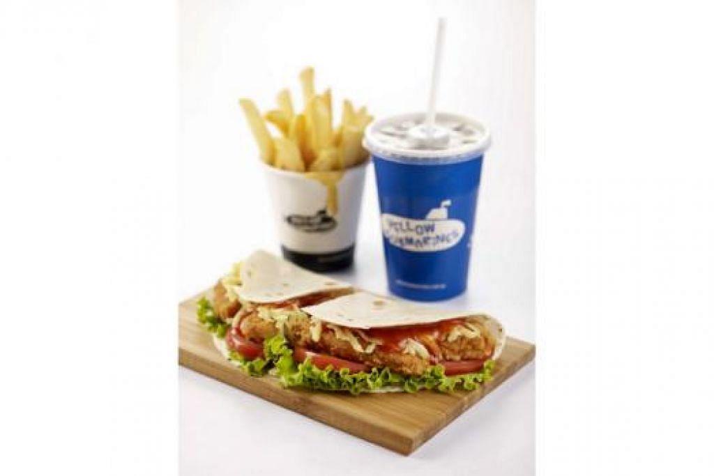 CUBALAH: Set 'Supreme Radar Meal' dihidang bersama air dan makanan lain pasti menjadi idaman ramai. - Foto YELLOW SUBMARINES