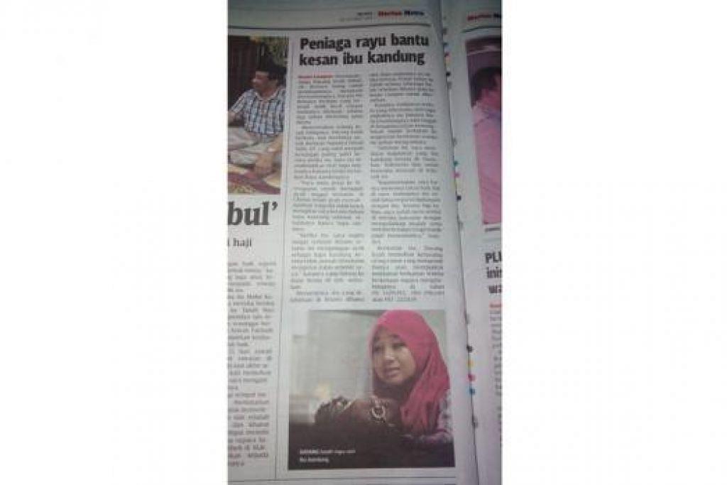 PELBAGAI USAHA: Cik Dayang Iszah telah berusaha pelbagai cara demi mencari ibu bapa kandungnya, termasuk meminta pihak akhbar di Malaysia menerbitkan kisahnya. - Foto-foto DAYANG ISZAH ISMAIL