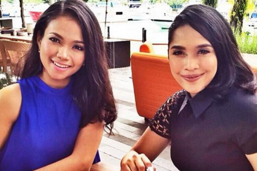 GIRLFRIENDS: Nadiah M Din & Fiza O bakal menemui anda di TV. - Foto MEDIACORP SURIA