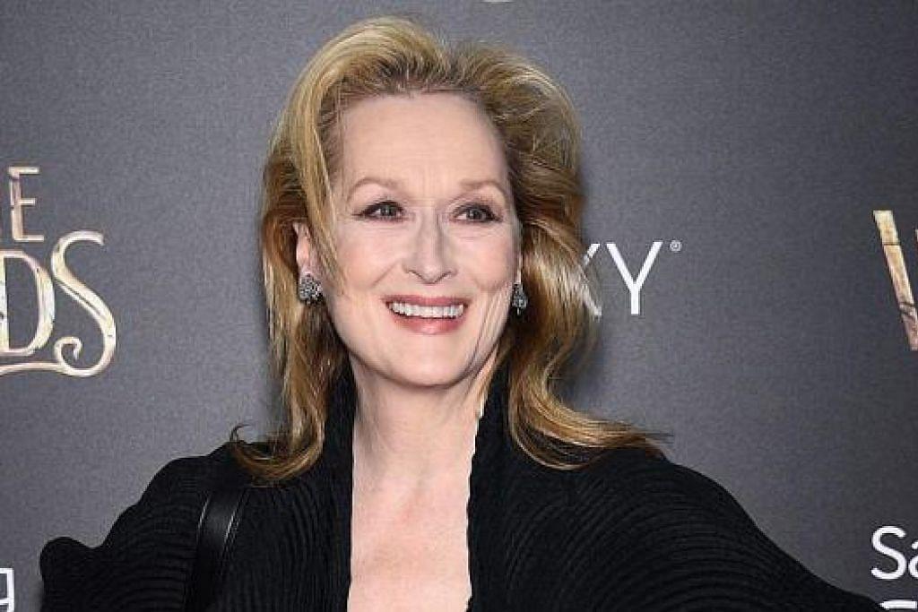 DINAFIKAN BERLAKON: Meryl Streep pernah dianggap terlalu hodoh bagi peranan dalam filem 'King Kong' (1976) sebelum menjadi terkenal. - Foto AFP
