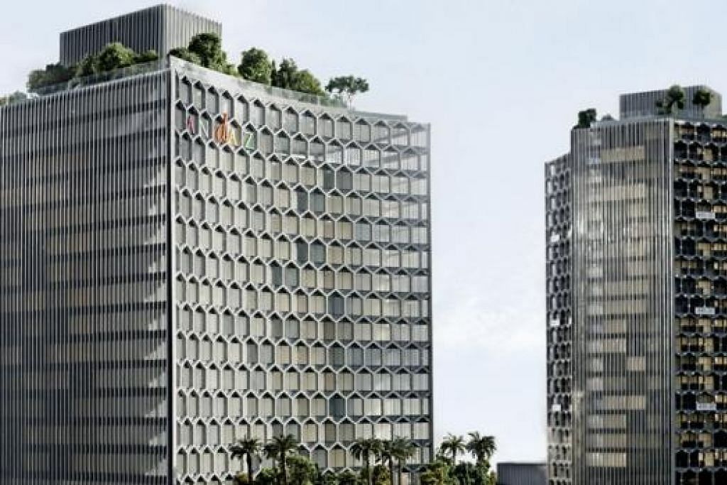 BANGUNAN IKONIK: Hotel Andaz akan menjadi lambang penting dalam pembangunan projek bersepadu, DUO, yang menjadi ikatan usaha sama Singapura dan Malaysia. – Foto ANDAZ SINGAPORE