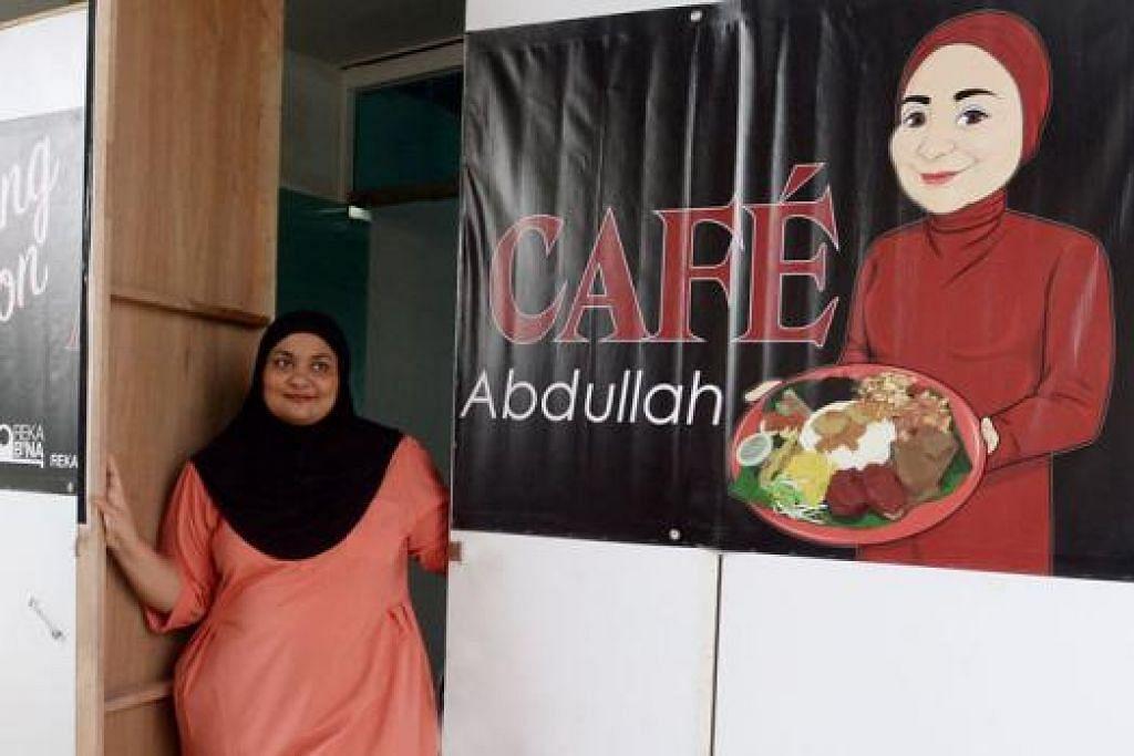 BAKAL DIBUKA: Cik Sa'adah Jan, yang lebih dikenali sebagai Cik Ummi, 35 tahun, restoran yang terletak di East Village, dekat Simpang Bedok, dijangka buka pada 13 Februari ini. - Foto TAUFIK A. KADER