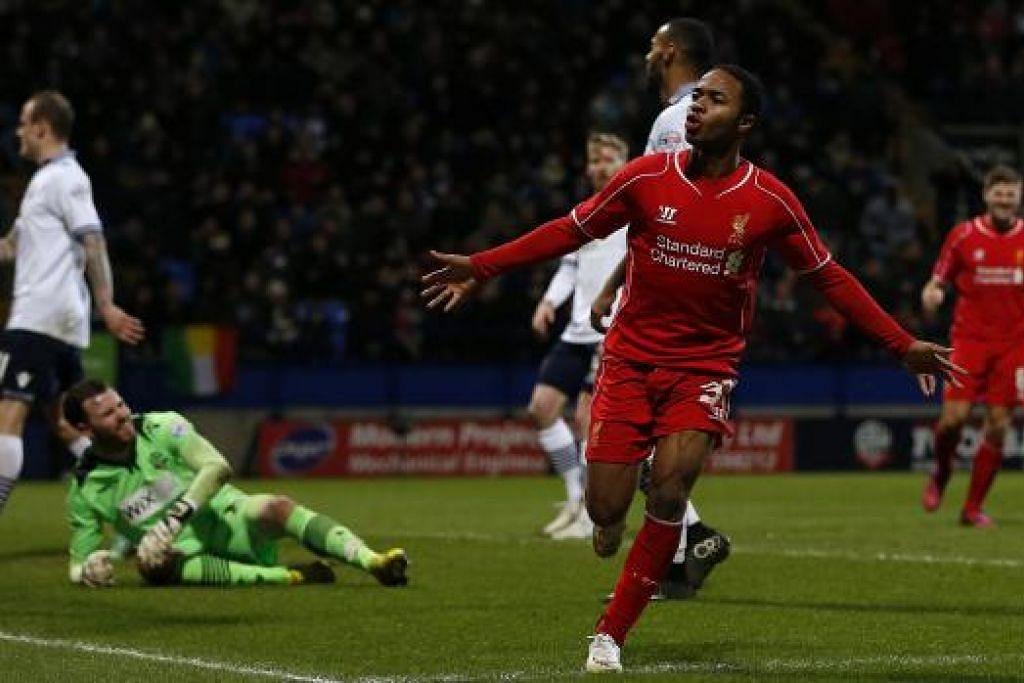 WIRA PASUKAN: Raheem Sterling membantu Liverpool bangkit apabila beliau menjaringkan gol penyamaan lima minit sebelum perlawanan berakhir.